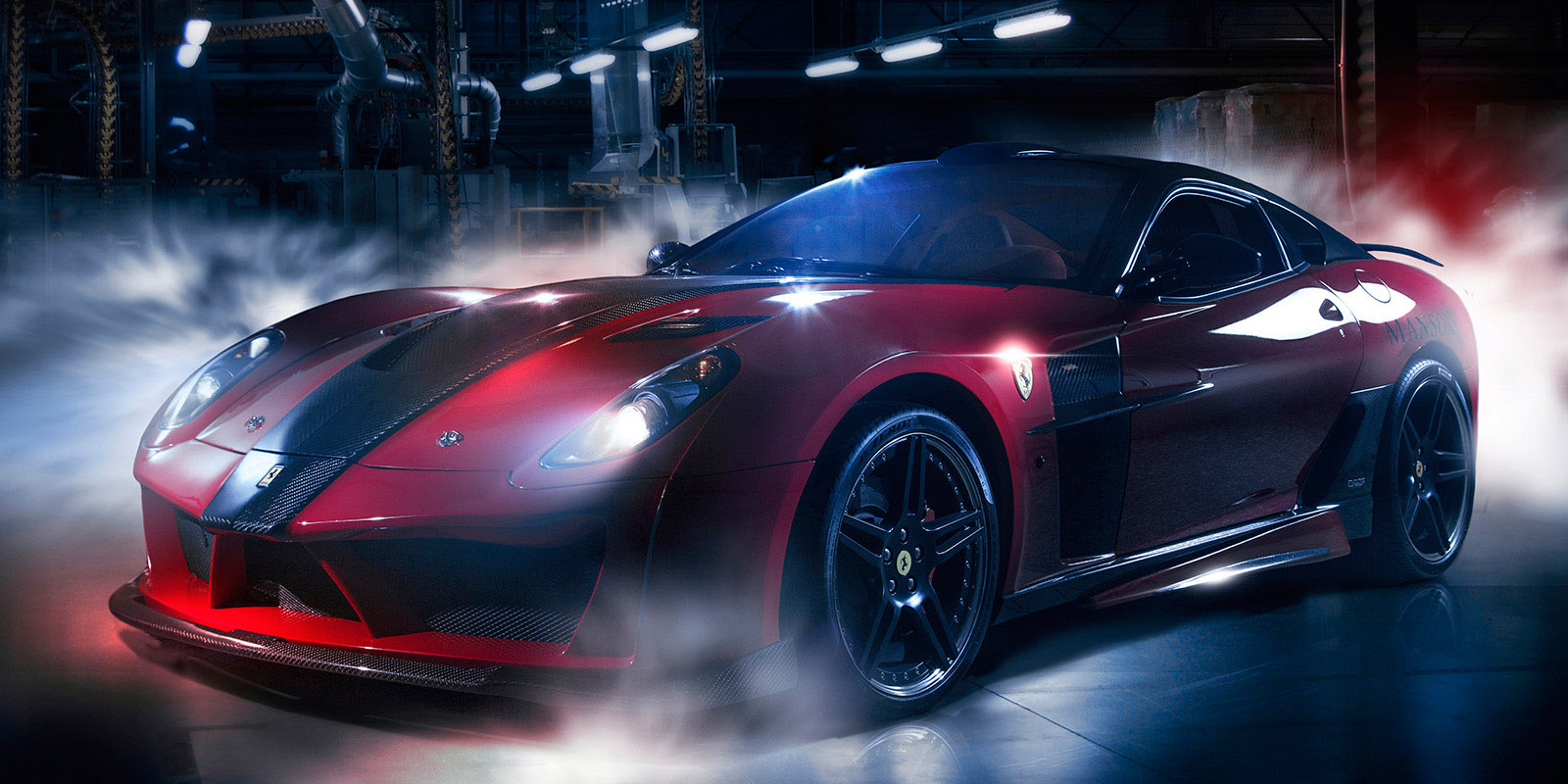 Ferrari sportcar editorial campaign digital art