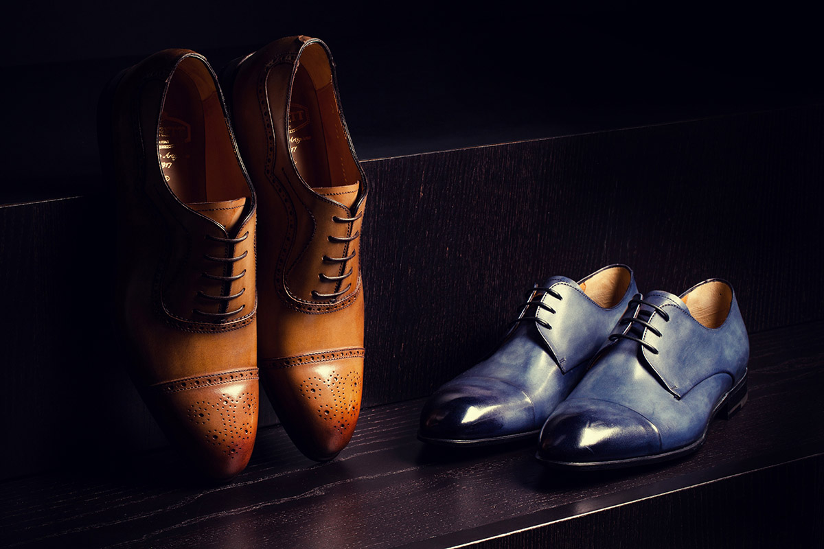 Scarpe uomo editorial campaign studio set