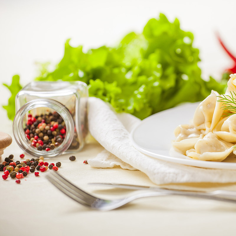Menu raviolli tortellini with spices table-top still-life food photography photo7it