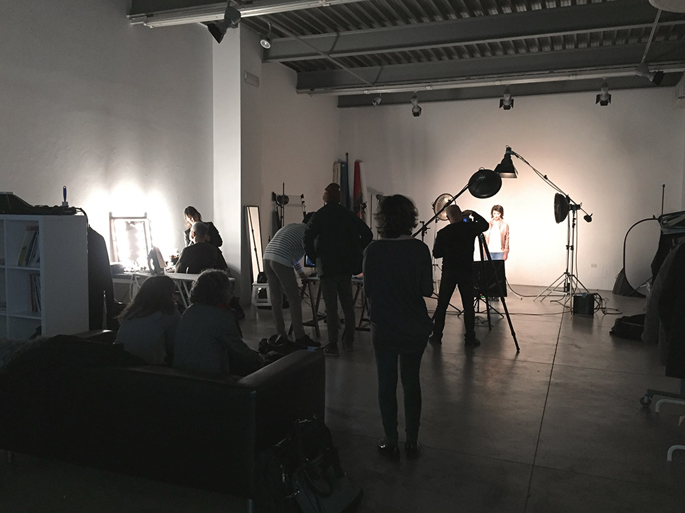 Commercial shooting backstage advertising production agency crew profoto photography lightening setup